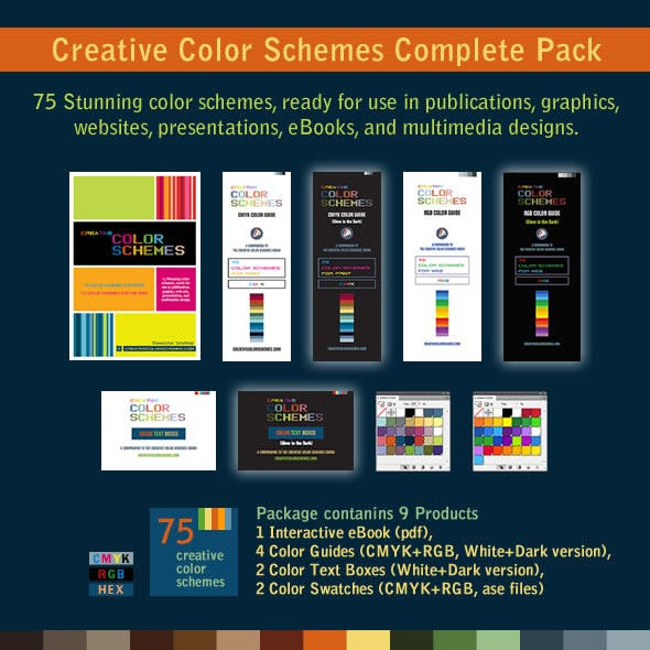75 Color Schemes Swatches and Color Guides