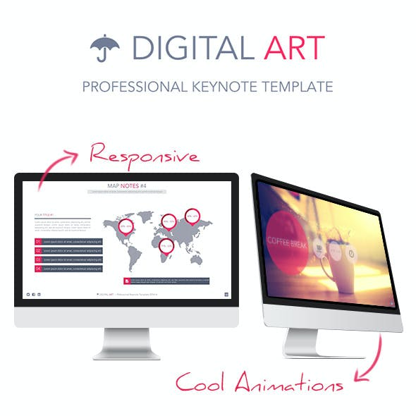 Digital Art - Creative Keynote Template