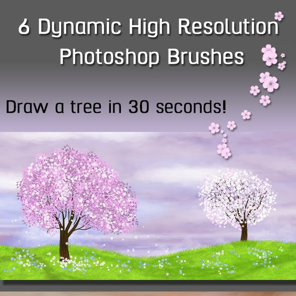6 Dynamic High Resolution Photoshop Brushes Nature