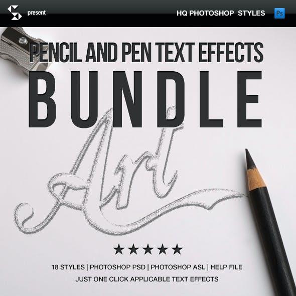 Pencil Styles Bundle - Pencil Art Text Effects