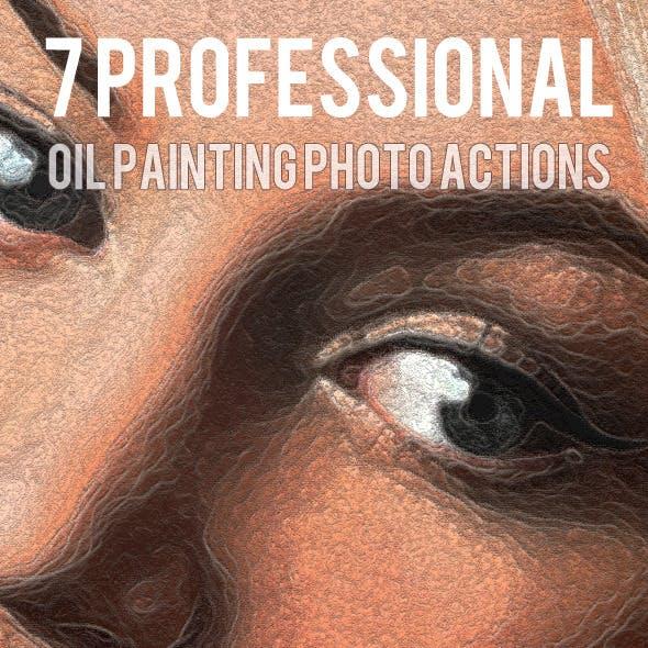 7 Oil Paint Photo Actions