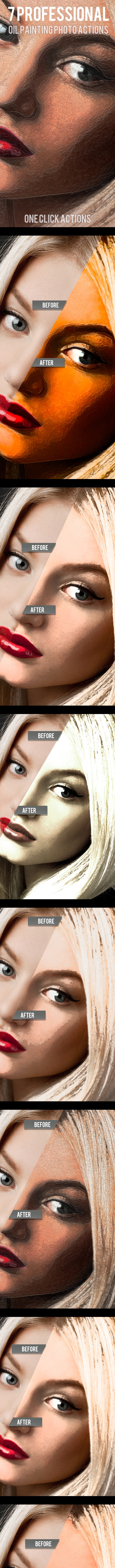7 Oil Paint Photo Actions - Photo Effects Actions