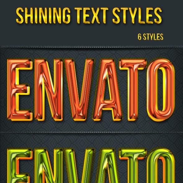 Shining Text Styles