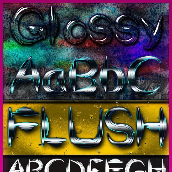 Flush font