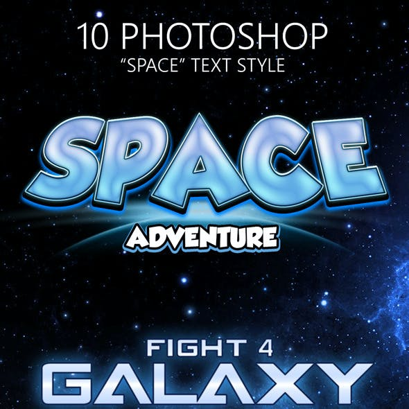 Space Game Photoshop Text Styles