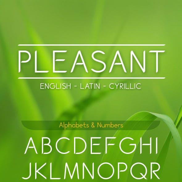 PLEASANT font