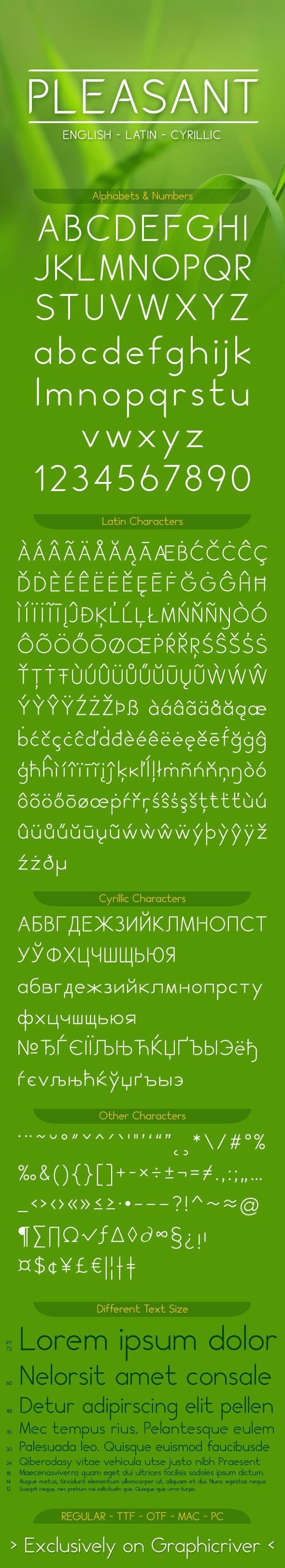 PLEASANT font - Sans-Serif Fonts
