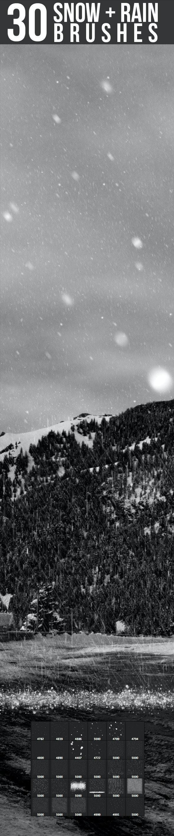 Snow & Rain Brushes - Brushes Photoshop