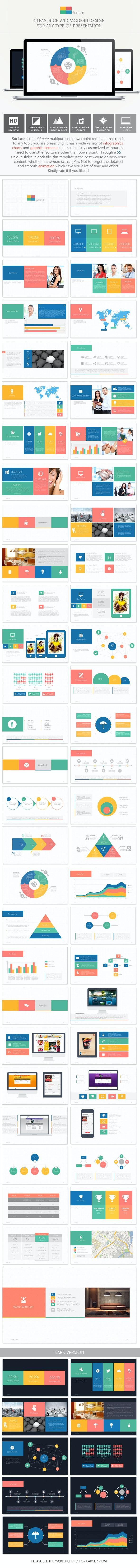 Surface - Multipurpose PowerPoint Template - PowerPoint Templates Presentation Templates