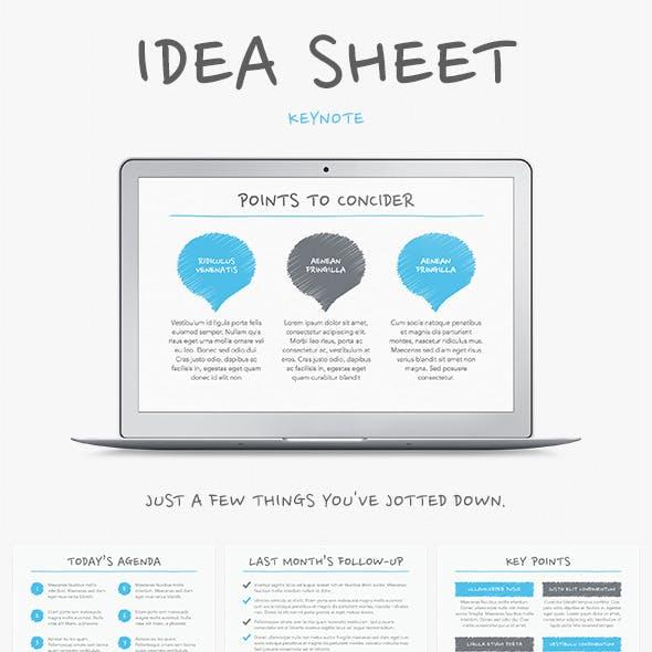 Idea Sheet Keynote Template