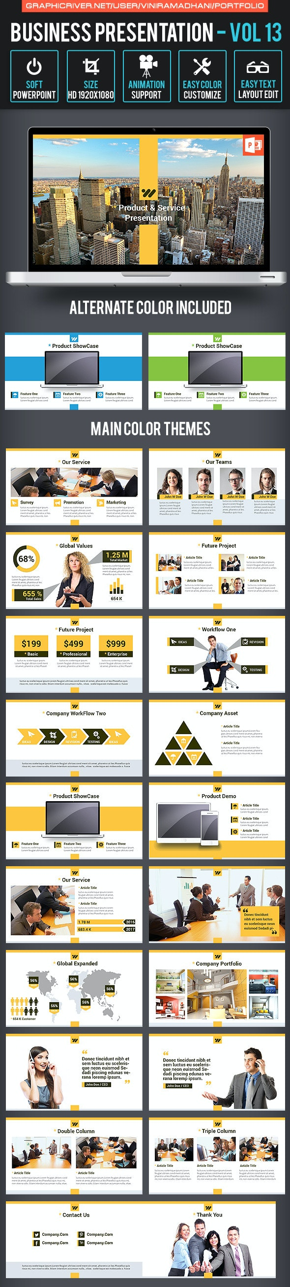 Business Presentation Volume 13 - Business PowerPoint Templates