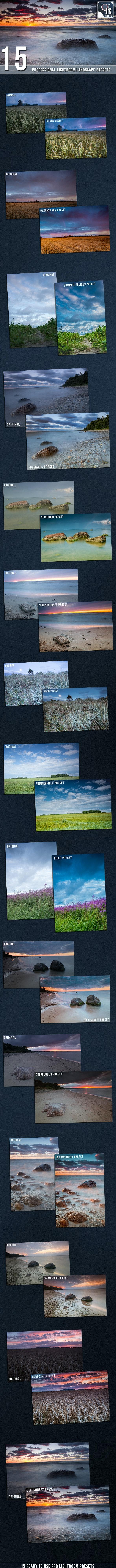 15 PRO  Landscape and Nature Lightroom presets - Landscape Lightroom Presets