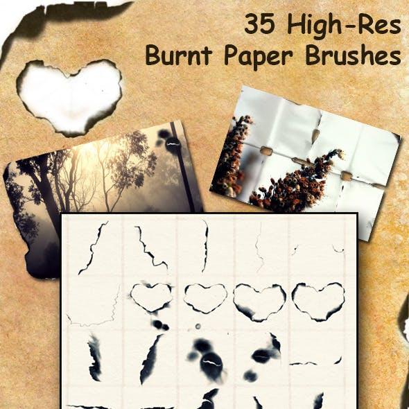 Burnt Paper Brush Set