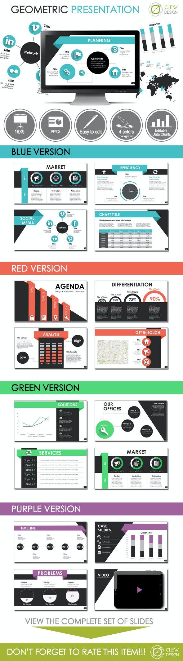 Geometric Presentation Template - PowerPoint Templates Presentation Templates
