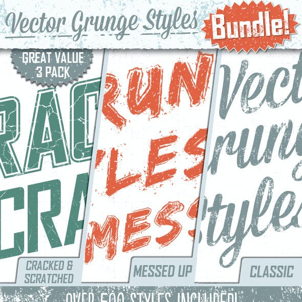 Grunge Text Styles Bundle