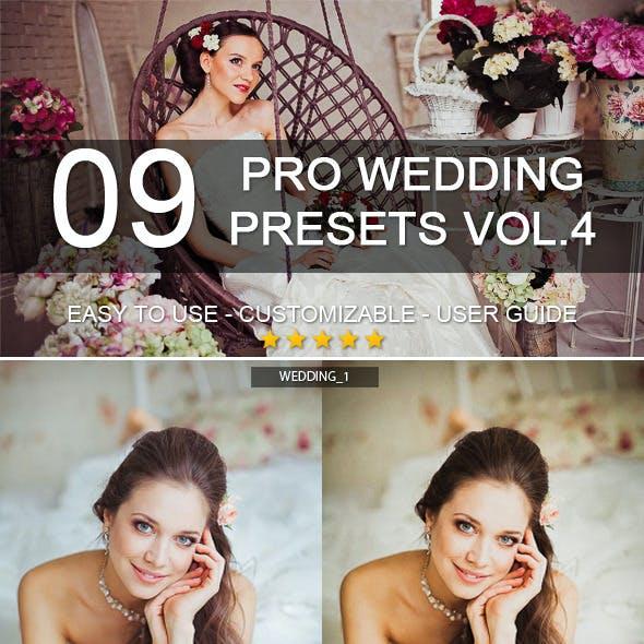 9 Pro Wedding Presets vol.4
