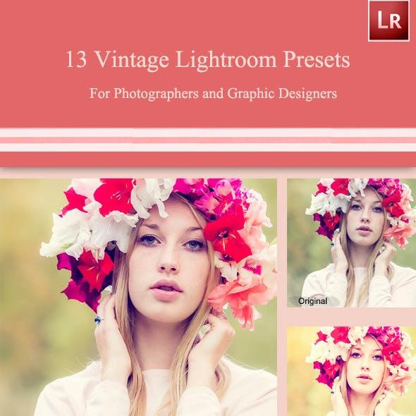 13 Vintage Lightroom Presets