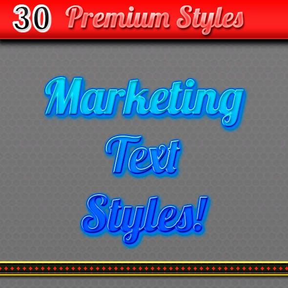 30 Marketing Text Styles - Ecommerce Text Styles