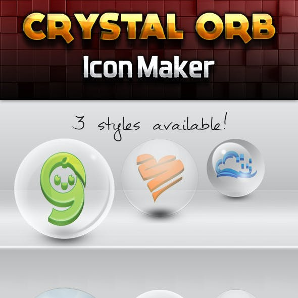 Crystal Orb 3d Icon Maker