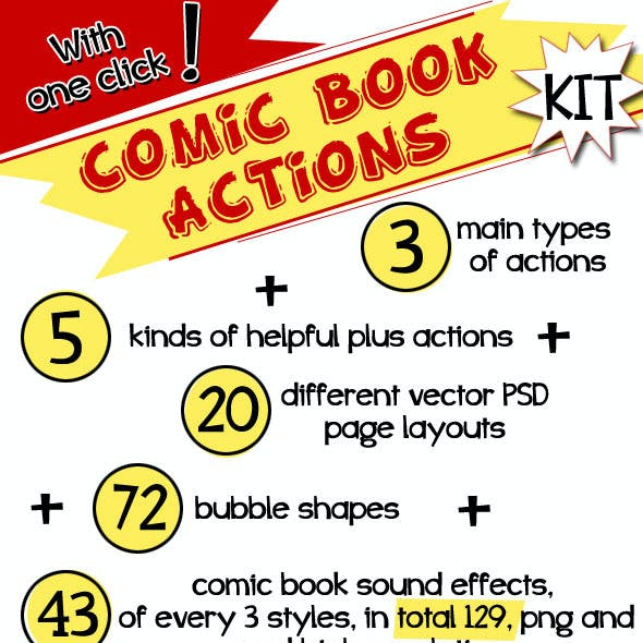 Comic Book Actions Kit