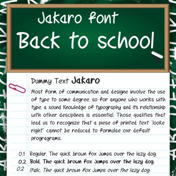 Jakaro font