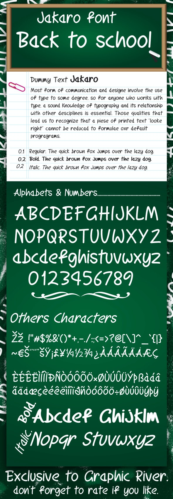 Jakaro font - Script Fonts