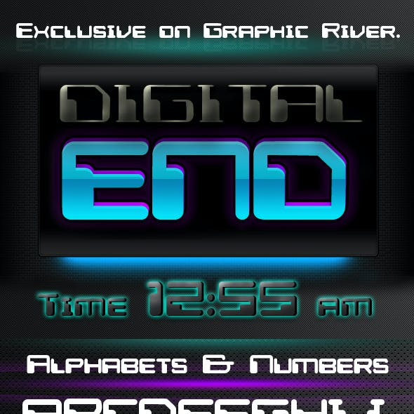 Digital End Font