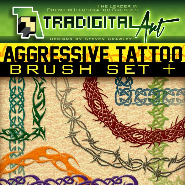Aggressive Tattoo Brushes & Ready-Made Assets