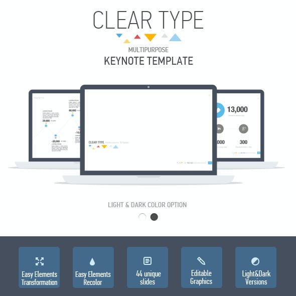 Clear Type Multipurpose Keynote Template