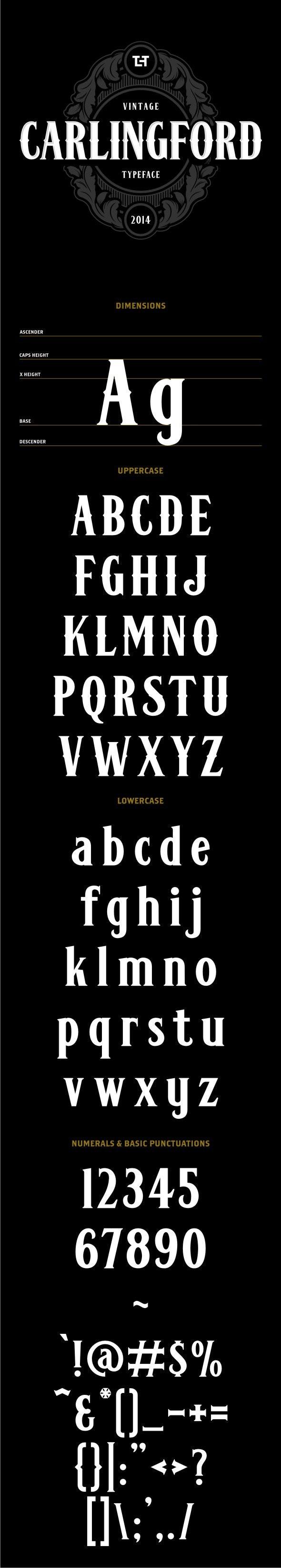 Carlingford Typeface - Gothic Decorative