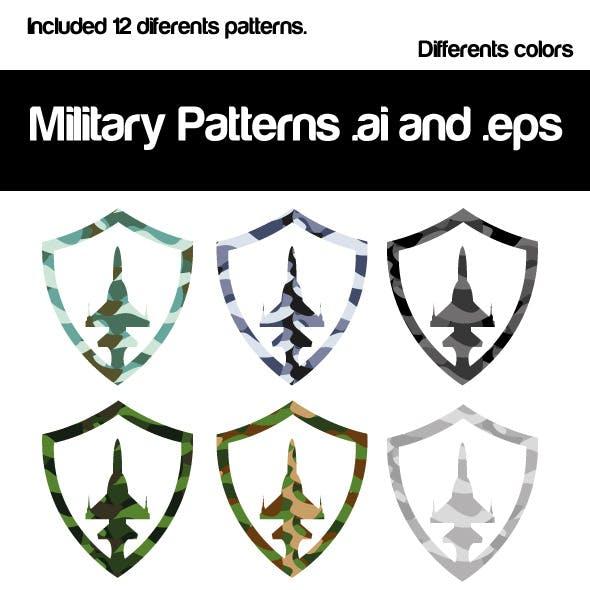 Seamless Pattern Military