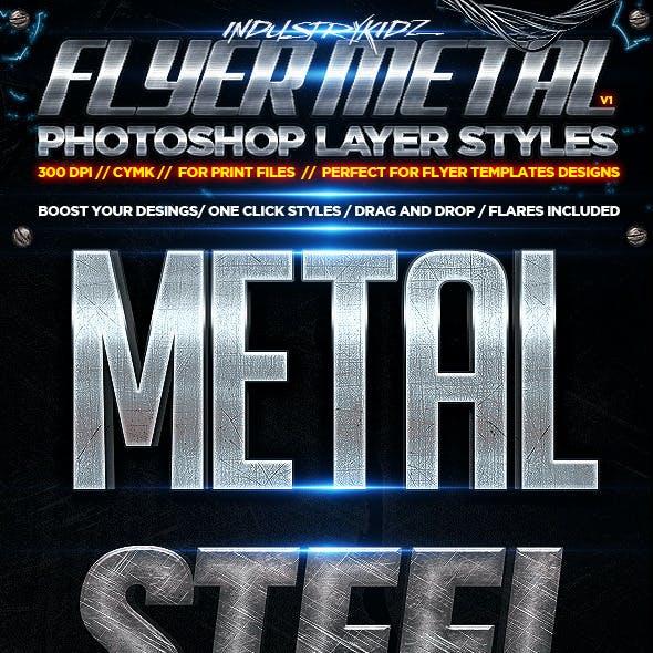 Flyer Photoshop Layer Styles / Metal CYMK