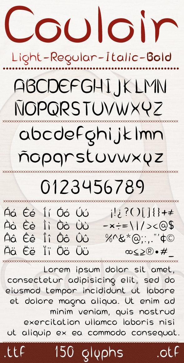 Couloir Font - Sans-Serif Fonts