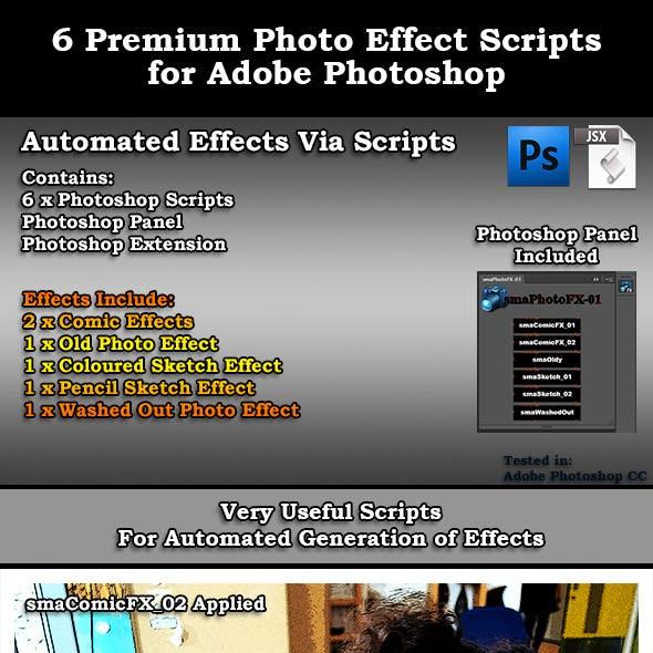 6 Premium Adobe Photoshop Photo Effect Scripts
