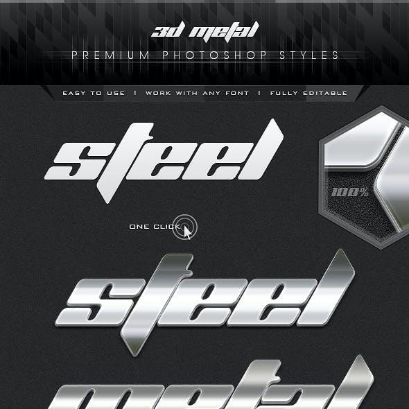 3D Premium Metal Styles