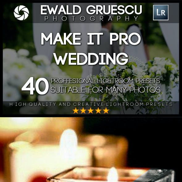Make it PRO Wedding Part I Lightroom Presets