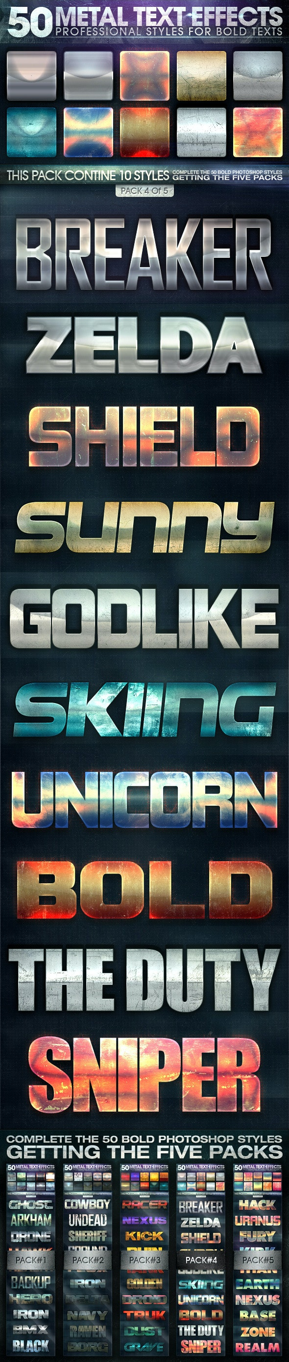 50 Metal Text Effects 4 of 5 - Text Effects Styles