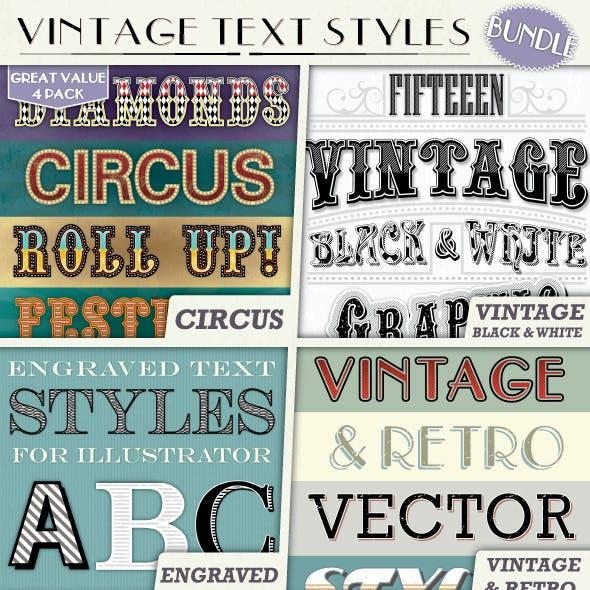 Vintage Text Styles Bundle