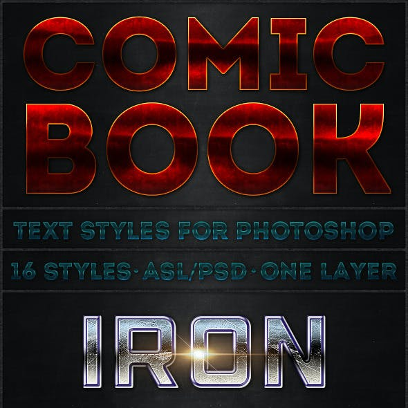 Comic Book - Text Styles