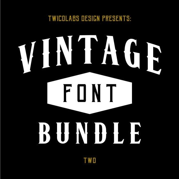 Vintage Fonts Bundle 2