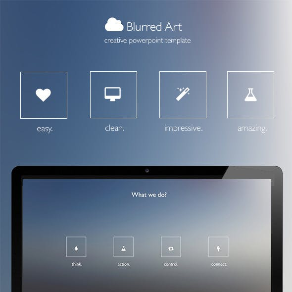 Blurred Art - Creative Powerpoint Template
