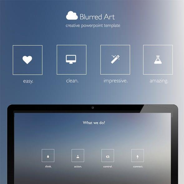 Blurred Art - Creative Powerpoint Template