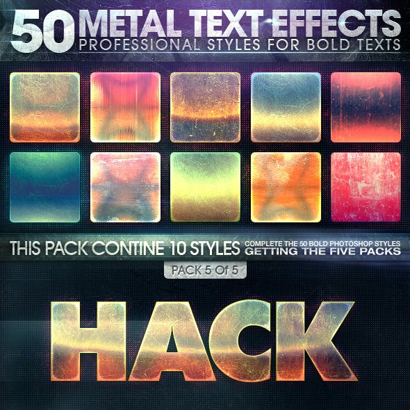 50 Metal Text Effects 5 of 5