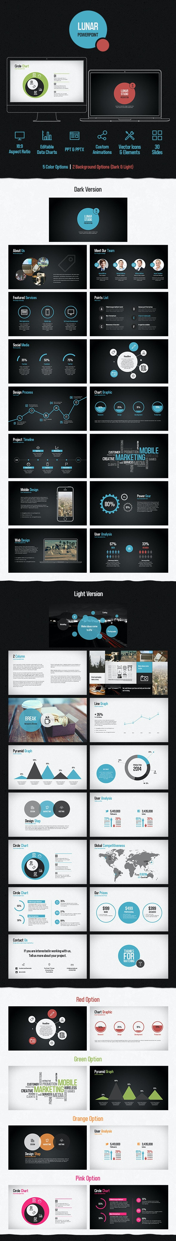 Lunar Powerpoint Presentation Template - Creative PowerPoint Templates