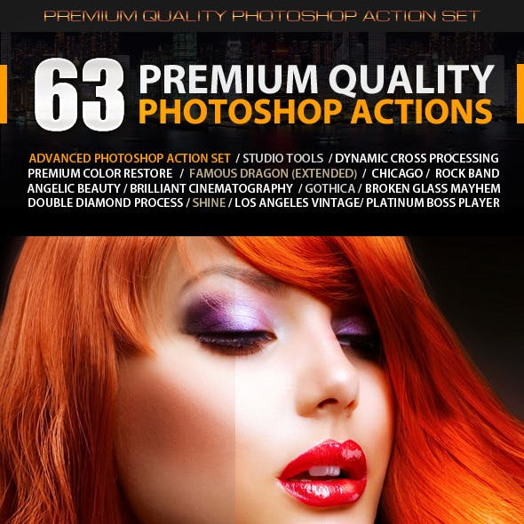 63 Premium Quality Photoshop Actions
