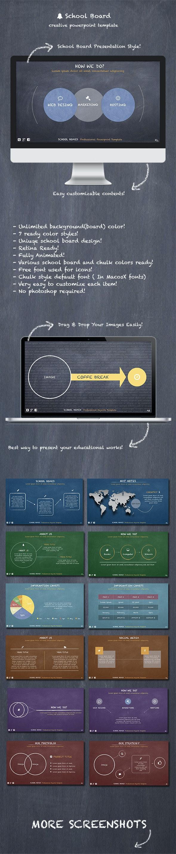 School Board - Creative Powerpoint Template - Creative PowerPoint Templates