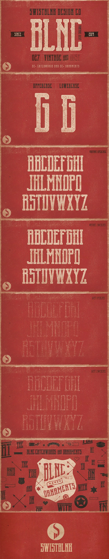Blnc Vintage - Serif Fonts