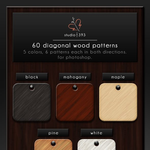 60 Seamless Diagonal Wood Patterns for Photoshop