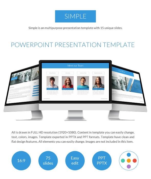 Simple Powerpoint Presentation - PowerPoint Templates Presentation Templates