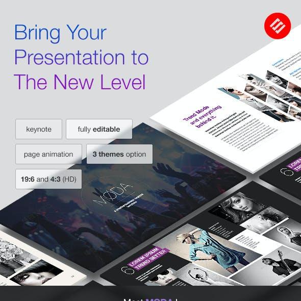 Moda - Modern Keynote Template
